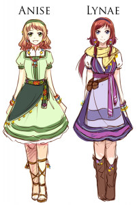 Character Designs for Anise & Lynae